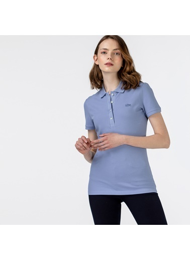 Lacoste Kadın Polo Tişört PF5462P.Z0G Mavi